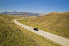 Straße alpiner metsovo Griechenland-Herbst Stockbilder