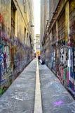 Straße Art Union Lane Melbourne Lizenzfreie Stockbilder