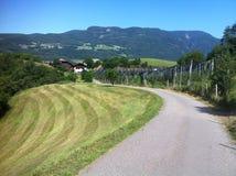 Straße in den italienischen Alpen Stockfotos