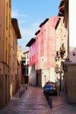 Straße in der alten Stadt Logrono Stockfotografie