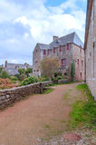Straße in der französischen Bretagne Lizenzfreies Stockfoto
