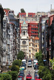 Straße in der Stadt von Santander Lizenzfreie Stockfotografie
