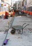 Straße, die Projekt umbaut Lizenzfreie Stockbilder