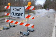 Straße geschlossen Lizenzfreie Stockfotos