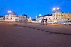 Straße im zentralen Teil von Vologda Lizenzfreie Stockbilder