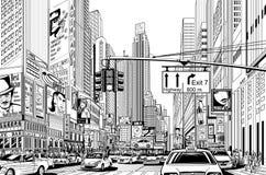 Straße in New York City Stockfoto