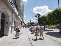 Straße in Tunis Lizenzfreie Stockfotos