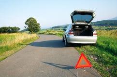 Straße und der Autounfall Lizenzfreies Stockfoto
