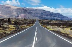 Straße von Lanzarote Stockfoto