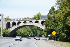 Straße von New York nach Pennsylvania Stockbild