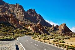 Straße zu Vulkan EL Teide Stockfotos