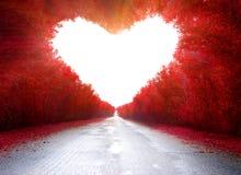 Straße zum zu lieben Stockfoto