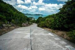 Straße zur Küste Stockfotografie