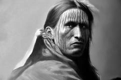 Straßen-Art Indian-Krieger Stockfoto