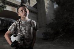 Straßen-Fußball-Reihe Lizenzfreie Stockfotografie