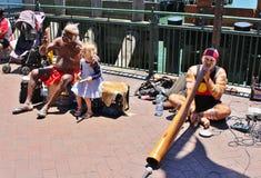 Straßen-Musiker in Sydney Stockfotografie