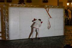 Straßen-Theaterfestival in Krakau Stockfotos