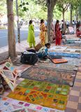Straßen von Neu-Delhi Stockfotografie