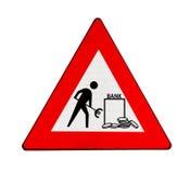 Straßenarbeiten in Querneigungen im Euroland Lizenzfreie Stockfotografie