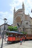 Straßenbahnwagen in Soller, Majorca Stockfotos