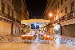 Straßencafé, Lissabon Stockfotografie