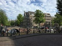 Straßenecke Amsterdam Stockbilder