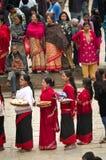 Straßenfest in Bhaktapur, Nepal Stockfotos