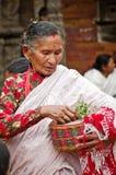 Straßenfest in Bhaktapur, Nepal Stockbild