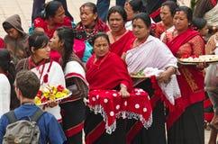 Straßenfest in Bhaktapur, Nepal Stockbilder