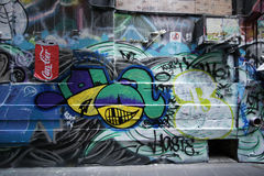 Straßenkunst ist eine der bedeutenden Touristenanziehungskraft in Melbourne Lizenzfreies Stockfoto