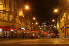 Straßenlaterne nachts Lizenzfreie Stockfotos