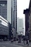 Straßenschlucht Frankfurt Lizenzfreies Stockfoto