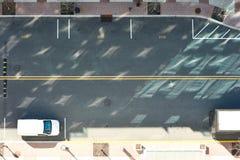 Straßenstraßenansicht von oben Lizenzfreie Stockfotografie