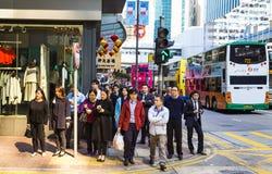 Straßenszene in Hong Kong Stockfotos