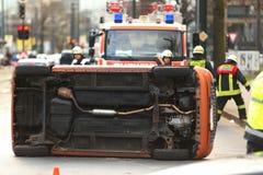 Straßenverkehrsunfall Stockfotos