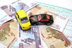 Strafe für Verkehrsverletzung der Regeln Lizenzfreies Stockbild