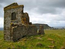 Straffånge som bygger den Stanley Tasmania stenen Arkivfoton