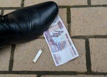 Straff för den kastade stumpen Fotografering för Bildbyråer