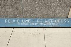 Strafverfolgungs-Warnung Stockbild