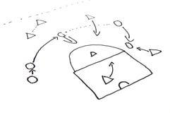 Free Stragegy Plan Of Ball Game Stock Image - 14016001