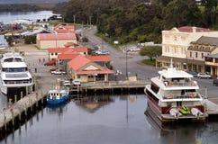 Strahan Village Tasmania Royalty Free Stock Photos