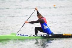 Strahinja Mladezic - canoe sprint Royalty Free Stock Photo