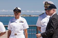 Strahl Mabus an USS Illinois, das Zeremonie benennt Lizenzfreies Stockfoto