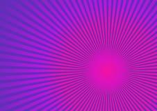 Strahlen auf rosafarbenem purpurrotem Hintergrund. Lizenzfreie Stockfotos
