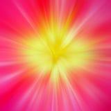 Strahlen der farbigen Leuchte Stockbild