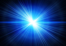 Strahlen der Leuchte Stockfoto