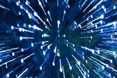 Strahlen der Leuchte Stockbild