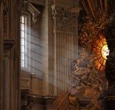 Strahlen der Leuchte in Str. Peters Stockfoto