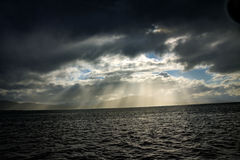 Strahlen des Himmels lizenzfreie stockfotos