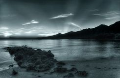 Strahlen des Sonnenaufgangs Stockfotos